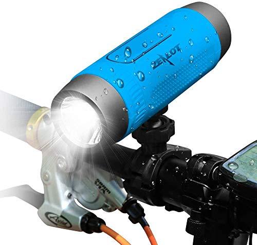 Bluetooth Lautsprecher, Zealot Portable Bluetooth Speaker mit LED Taschenlampe, Wasserdicht, Power Bank, Freisprechfunktion für Fahrrad, Reise (Blau)