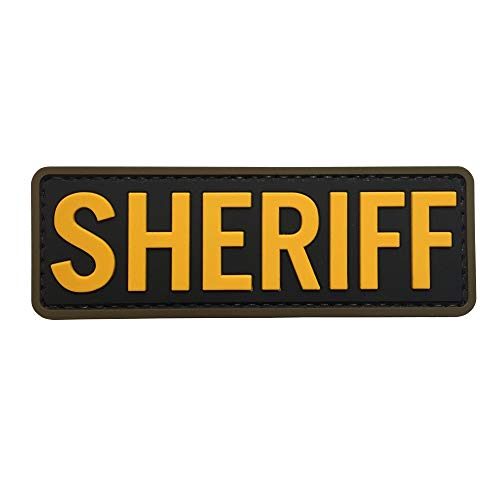 Sheriff PVC Patch Back with Hook Fastener by uuKen Tactical Gear
