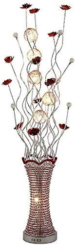 SOSERFL vloerlamp moderne creatieve woonkamer slaapkamer decoratieve staande lamp Personity Vaas LED kristal vloerlamp grootte: 22 *  150 cm