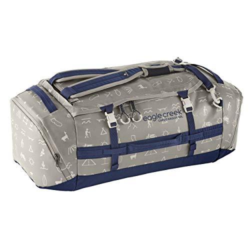 Eagle Creek Cargo Hauler Duffel Bag 60L, faltbare Reisetasche, aus abrieb- & wasserbeständigem TPU-Gewebe, Rucksack und Koffer in einem, Cali Hiero, M