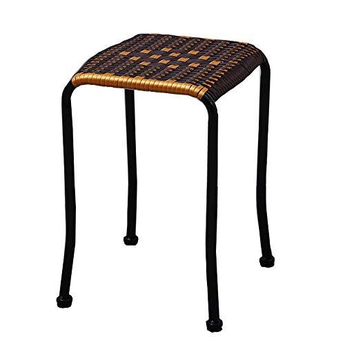 Stool Taburete De Tejer, Banco Pequeño Creativo Taburete Alto IKEA Mesa De Comedor Taburete Cuadrado Taburete De Ratán
