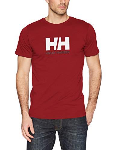 Helly Hansen Herren Logo T-Shirt, Oxblood, M