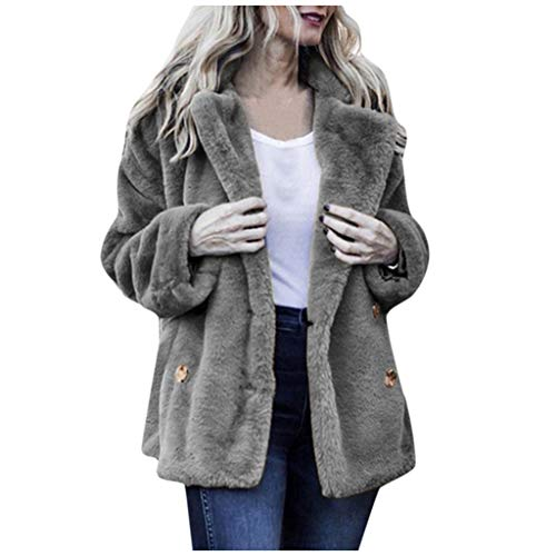 Mujer Casual Chaqueta Invierno Caliente Outwear Botón Bolsillo Largo Abrigo Abrigo Mujer Abrigos y Chaquetas Invierno Venta