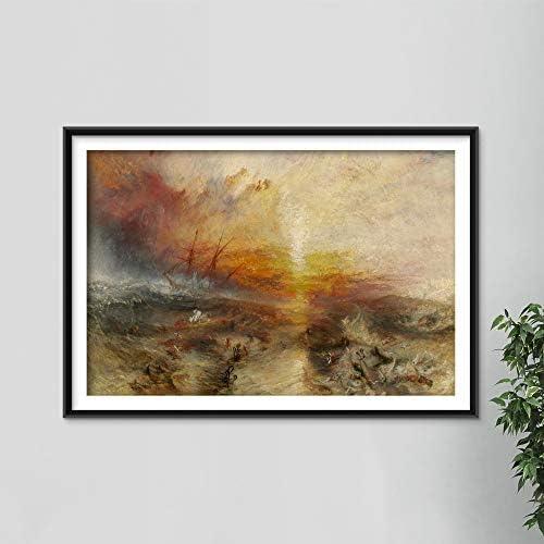 Art Prints Vintage William Turner The Slave Ship 1840 Painting Photo Poster Print Art Gift J product image