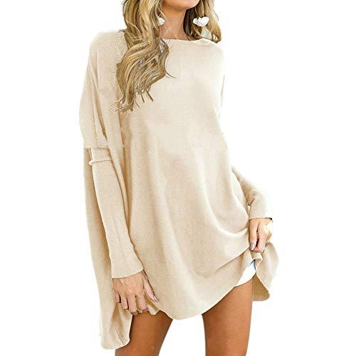 Urisgo tuniek voor vrouwen, leggings, oversized overhemden, casual, lange mouwen, snit X-Large Abrikoos