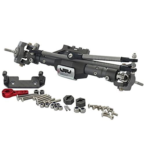1/10 RC Crawler Voiture 312mm Kit de châssis en Alliage d'aluminium CNC en Alliage d'aluminium avec Pare-Chocs en métal pour la Roche SCX10 (Couleur : Front Axle)
