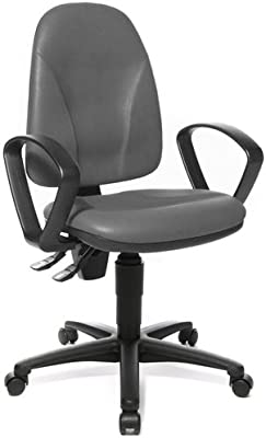 Topstar 611910 silla de oficina CALIFORNIA 20 HD tejido Softex antracita silla de escritorio