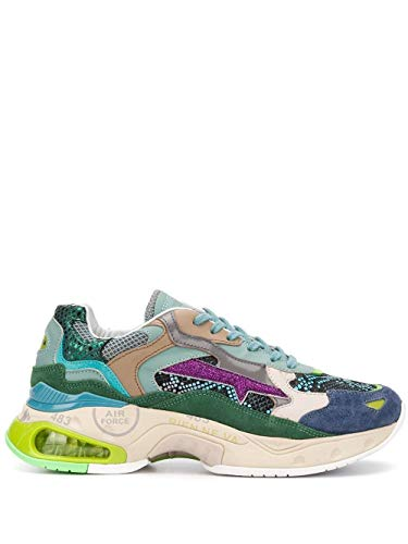 PREMIATA Luxury Fashion Damen SHARKYDVAR0041D Grün Leder Sneakers | Frühling Sommer 20
