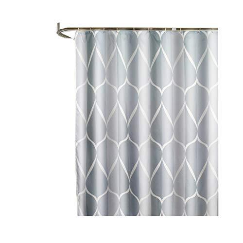 CXL Einfacher wasserdichter Duschvorhang, Dicker Polyester-Duschvorhangstoff, Badvorhänge