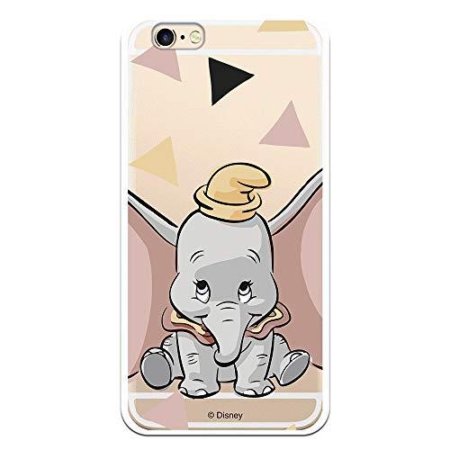 Funda para iPhone 6-6S Oficial de Dumbo Dumbo Silueta Transparente para Proteger tu móvil. Carcasa para Apple de Silicona Flexible con Licencia Oficial de Disney.