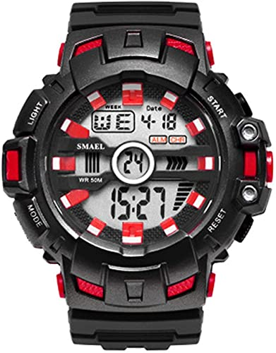 Reloj NLRHH Eventos Deportivos Deportes al Aire Libre Impermeable y a Prueba de Golpes Pantalla electrónica Individual Reloj Peng Student para Hombres (Color: E)-Segundo