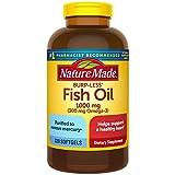 Fish Oil Burp-Less 1000 mg, 320 Softgels, Fish Oil Omega 3 Supplement For Heart Health