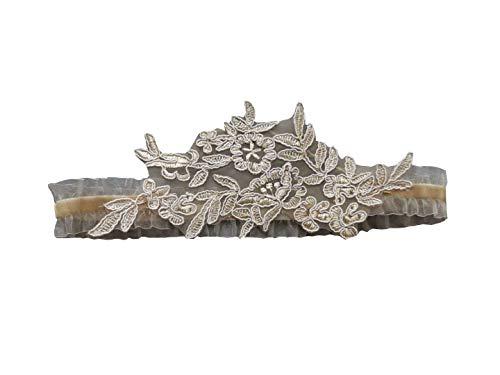 Abading Wedding garters for bride and bridesmaid bridal garter lace (champange)
