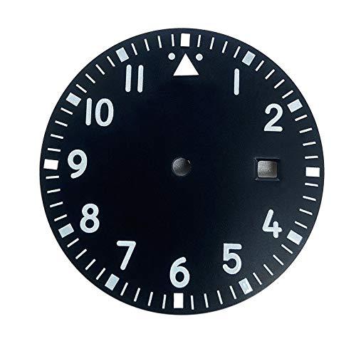F Fityle Display del Calendario della Parte di Riparazione del Quadrante Dell'orologio da 1,31 Pollici per Miyota 2813 - Nero