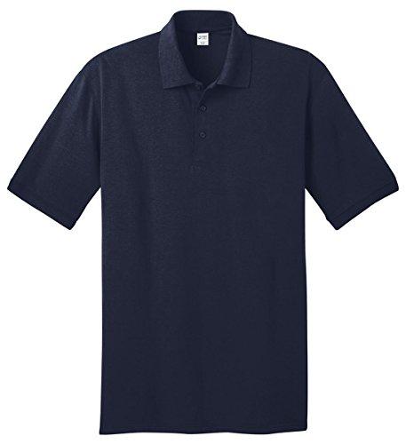 Port & Company Tall 5.5-Ounce Jersey Knit Polo>3XLT Deep Navy KP55T