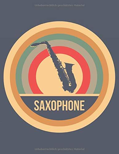 Saxophone: Retro Vintage Saxophon Terminplaner A4 mit Wochenkalender & Monatsplaner 2020 - Geschenk für Saxophonisten