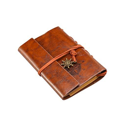 LEORX Journal Reisetagebuch Anker Ringbucheinlagen Zeichenfolge gebunden leeren Notebook
