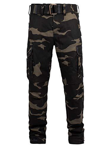 John Doe Regular Cargo - Camouflage | Motorradhose mit Kevlar | Einsetzbare Protektoren | Atmungsaktiv | Motorrad Cargo Hose | Hose mit Seitentaschen