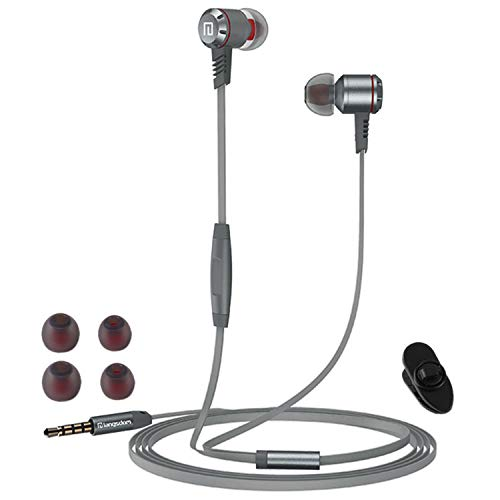 Kopfhörer In Ear mit Mikrofon und AUX Kabel - Headset PC Headphones mit Noise Cancelling kompatibel für Handy, iPhone, PS5, Sport, Gaming, Huawei, Tablet, PS4, Joggen, Galaxy, Earpods