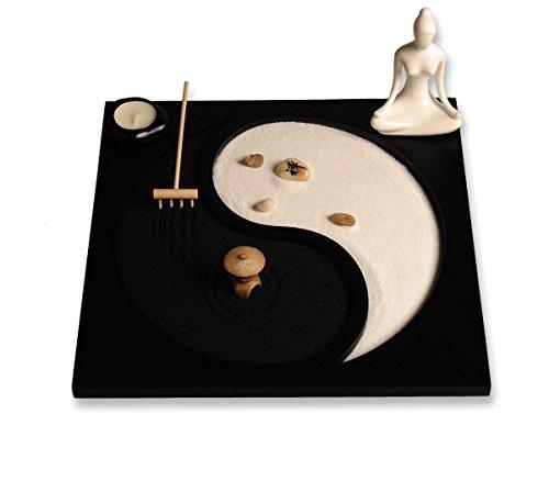 Juego de accesorios y herramientas para jardín Zen de ICNBUYS, madera, B,...