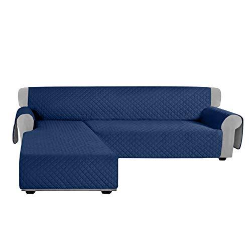 Granbest - Fundas de sofá en forma de L, reversibles, seccionales, funda para sofá de Chaise Lounge para proteger de perros, mascotas, funda antideslizante, protector de muebles con varillas de espuma