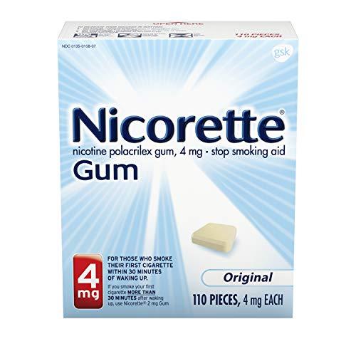 Nicorette Nicotine Gum Original 4 milligram Stop Smoking Aid 110 count
