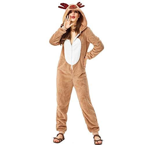 XYAL0006001 Kerst Rendier Dier Kostuum, Cosplay Leuke Jurk Elk Persoonlijkheid Losse pyjama, Xingyue Aile Kerstbenodigdheden