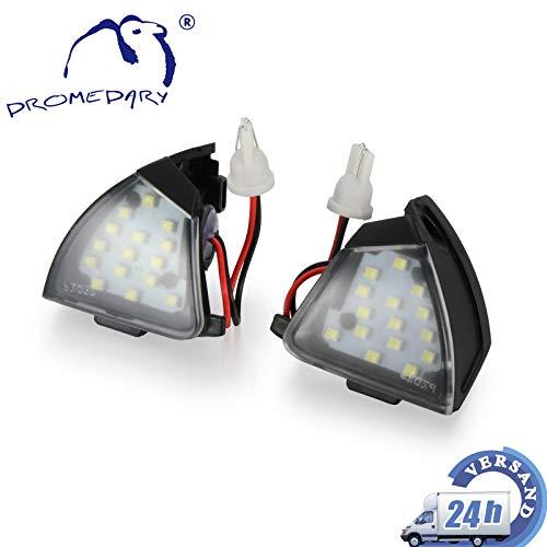 Preisvergleich Produktbild Dromedary 2Stk 3C0945291 Umfeldbeleuchtung Außenspiegel Spiegel Leuchte Superb 3U4 Golf Plus Golf V VI Jetta III Passat 3C2 Passat Variant 3C5
