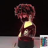 3D Illusion Lampe Led Night Light Anime Hunter X Hunter Killua Zoldyck Figure Changement de Couleur Usb Batterie Table Cadeau Pour Enfants