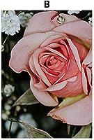 アクセサリー3個40x60cmフレームレスフラワーウーマンバスタオル窓サンシャインウォールアートプリント絵画北欧ポスターリビングルーム装飾写真