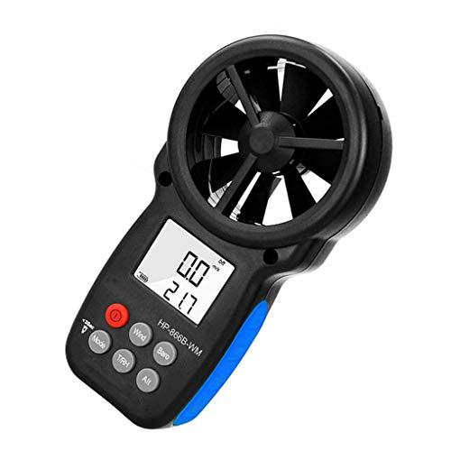 heacker Bewegliche Digital-Anemometer LCD-Anzeige Windgeschwindigkeit Tester Messgerät mit Thermometer