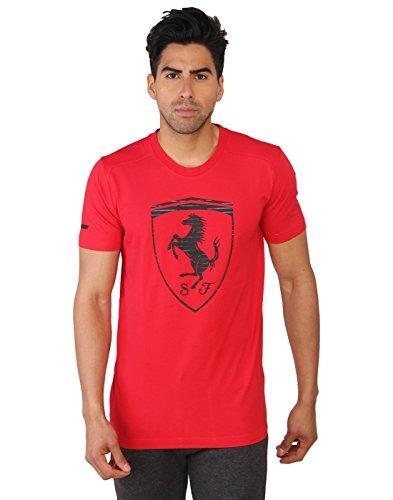 Puma Ferrari Big Shield T-Shirt Homme Rosso corsa FR : M (Taille Fabricant : M)