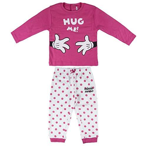 ARTESANIA CERDA Pijama Largo Minnie Pyjama, Rose (Rose C08), 3 Ans Bébé garçon
