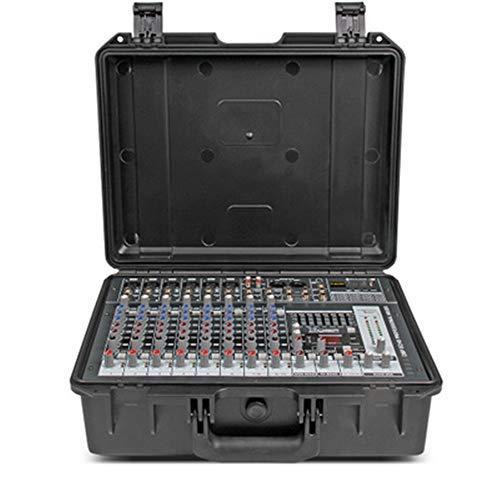 AFCITY-home Mixer Audio Console Esterna Integrata con Valigia Professionale for Mixer Portatile con Amplificatore 10 canali e Amplificatore 300W x 2 per DJ, Studio e Karaoke