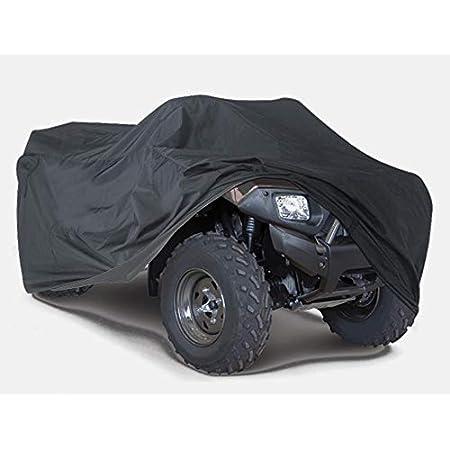 Xxxl Quad Atv Abdeckplane Fahrzeug Abdeckung Schutz Cover Winterfest Staub Regen Uv Schutz Schwarz Auto
