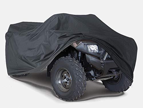 XXXL Quad ATV Abdeckplane Fahrzeug Abdeckung Schutz Cover Winterfest Staub Regen UV-Schutz Schwarz