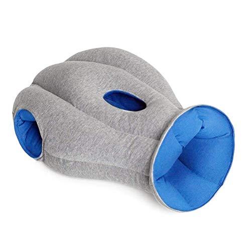 Almohada de cuello de viaje para niños, mujeres y adultos, almohada de apoyo lumbar, almohada de avestruz, almohada para avión, coche, tren para dormir u oficina en casa