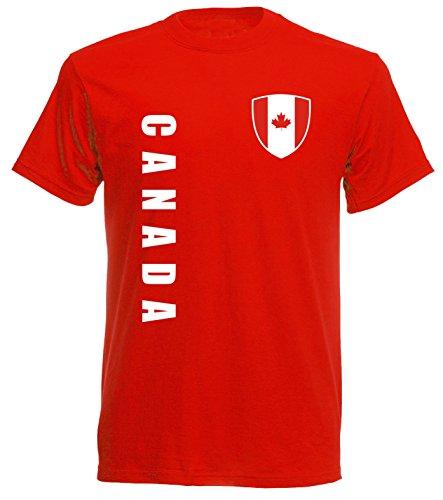 aprom Kanada Canada Sp/A rot - T-Shirt Fußball Trikot (2XL)