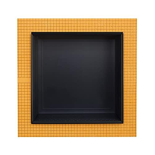 Schluter Kerdi Board 30,5 x 30,5 cm Einbau-Dusche Nischenfliesen vormontiert Einzelregal klassisch matt graphit