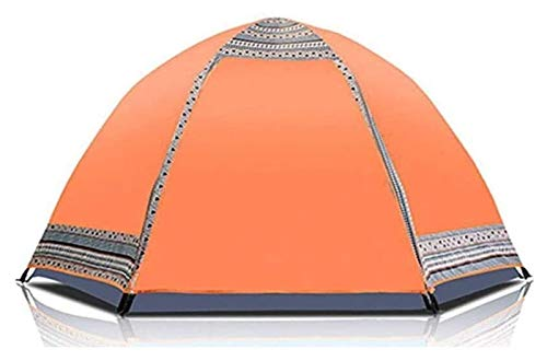 pwmunf Tienda de Camping Tienda Impermeable Ligero Tienda Tienda Tienda Instantánea Hidráulica Pop Up Fácil Configure Tienda de cúpula Ventilación de Seis Lados (Color : Orange, Size : 240x240x145cm)