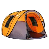OILEUS X-Large Pop Up Dome Tent Instant Camping Tent 5-6 Person Tent with Sky-Window Easy, Automatic Setup - Fast Pitch...