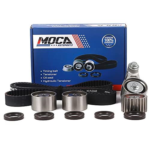 MOCA Timing Belt Kit with Tensioner for 1999-2011 Subaru Impreza & 1999-2010 Subaru Forester & 2006-2007 Subaru Outback 2.5L EJ22 EJ25 Engine #TCK304A