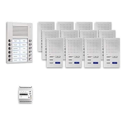 TCS Tür Control Audio Außenstation Pack 12 PPAF12-EN/02 PES12 Tasten AP Türsprech-Set 4035138034531