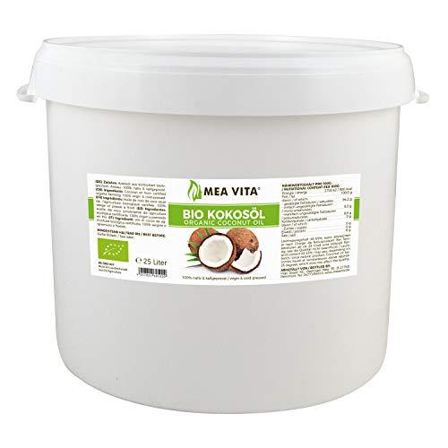 MeaVita Bio Kokosöl, nativ, 1er Pack (1 x 25 L) im Eimer