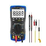 UOEIDOSB Multímetro Digital de Rango automático Medidor de Voltaje CA CC Medición Temperatura/Frecuencia/Ciclo de...