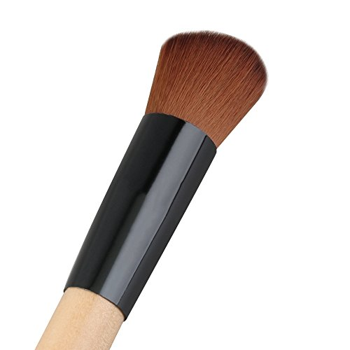 Flat Angled Wooden Liquid Foundation Powder Contour Multifunction Makeup Brush Outil Artificial Fibre