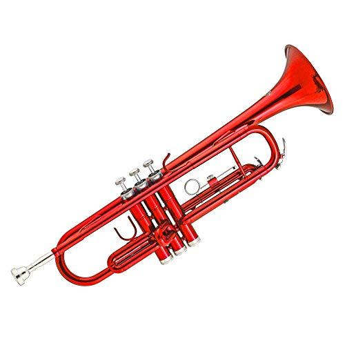 Kaizer TRP-1000RD Standard B Flat Bb Student Trumpet - Red