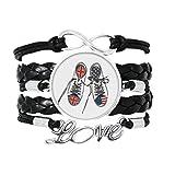 DIYthinker Armband aus Segeltuch u. K Pavillon Modell Armband Liebe Schmuck Leder