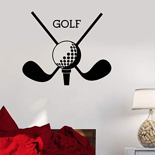 Vinyl Muursticker Golf Club Sport Logo Muursticker Golf Putter Muurschildering Woonkamer Vinylbehang A 57 * 47cm