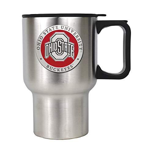 Heritage Pewter Ohio State Buckeyes Stainless Steel Travel Mug